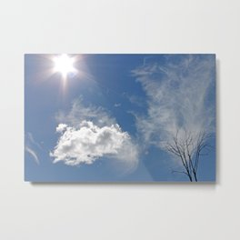 Clouds, Sun, Sky Metal Print