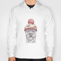 terrier Hoodies featuring Christmas terrier. by Brionyjoseillustrations