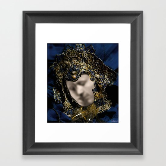 MASK OF LOVE (read the description to understand the trick) Framed Art Print