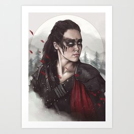 Commander Lexa Art Print