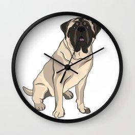 Mastiff the French Bulldog Wall Clock