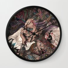 furious angels Wall Clock