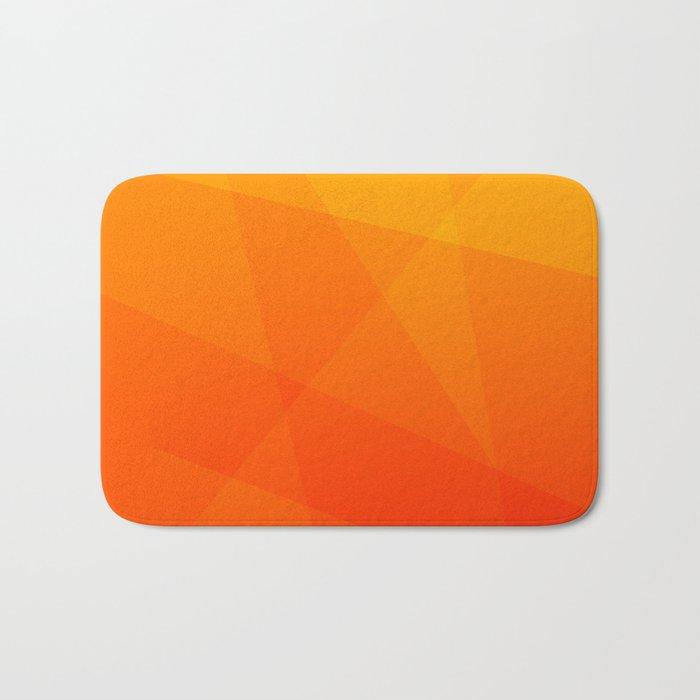 Orange Sunset Bath Mat
