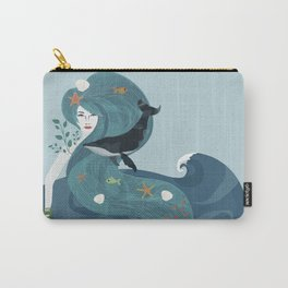 Aquatic Life of a Seaflower Carry-All Pouch
