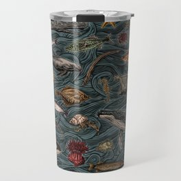 Sea & Ocean Life Maritime Pattern Travel Mug
