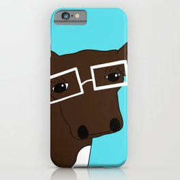 Matilda the Hipster Cow iPhone Case