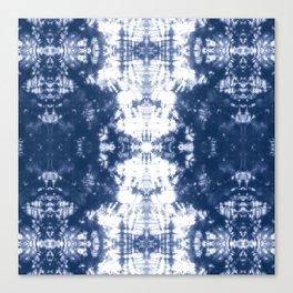 Shibori 6 Indigo Blue Canvas Print