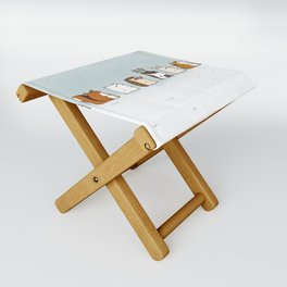 Winter forest animals Folding Stool