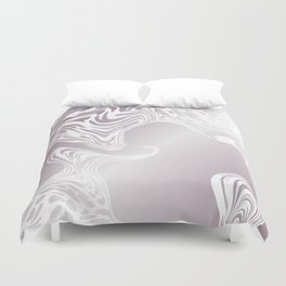 Rose Gold Liquid Marble Effect Design Duvet Cover
