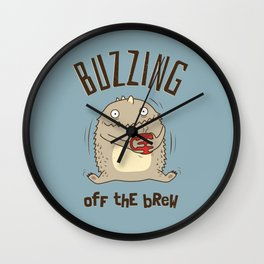 Buzzing off the Brew Wall Clock
