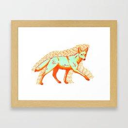 Psychadelic Coyote Framed Art Print
