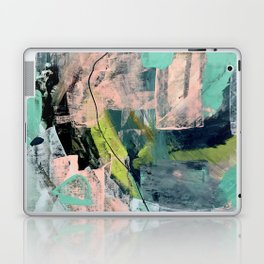 Connect [4] : a vibrant acrylic abstract in neon green, blues, pinks, & hints of orange Laptop & iPad Skin