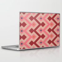 kilim Laptop & iPad Skins featuring Kilim in pink by Domesticate