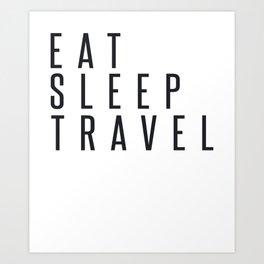 RV Vanlife Eat Sleep Travel Art Print