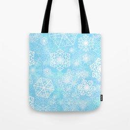 Snowflakes - Blue Tote Bag