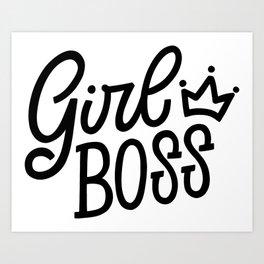 Girl Boss Art Print