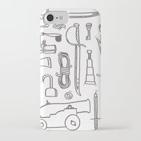 kit king iPhone & iPod Cases featuring Pirate's Kit by cotey bucket