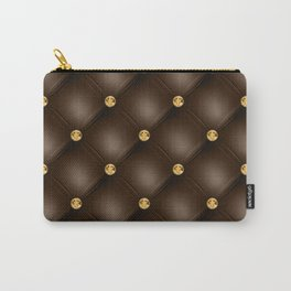 Luxury Tufted Gold Diamond 1 Carry-All Pouch
