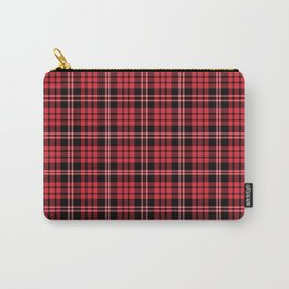 Red & Black Tartan Plaid Pattern Carry-All Pouch