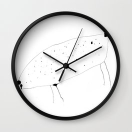 Cow lady is crazy Wall Clock