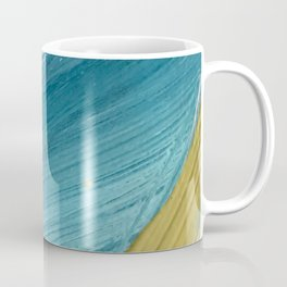 Paradise: a vibrant, minimal, abstract mixed media piece Coffee Mug