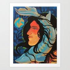 The Lady and the Sturgeon Art Print