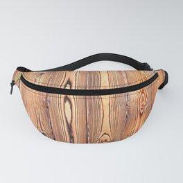 Wood texture. Wood Grain. Natural dark wooden planks. Fanny Pack