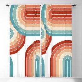 Colorful retro arches Blackout Curtain