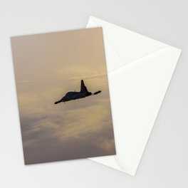 Turkish military acrobatic airplane in backlight Stationery Cards