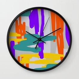 Bright Linear Abstract Wall Clock