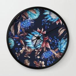 King protea flowers Wall Clock