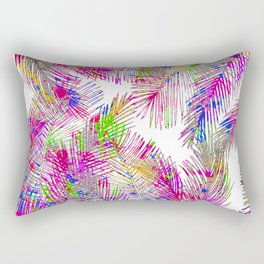 Modern pink hand painted watercolor palm trees  Rectangular Pillow