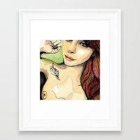 erotic Framed Art Prints featuring Erotic Portrait by Mattew Draw