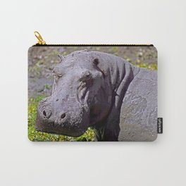 Angry Hippo, Africa wildlife Carry-All Pouch