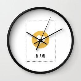 I Love Miami Wall Clock