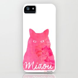 MIAOU rose iPhone Case
