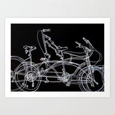 White bikes Art Print