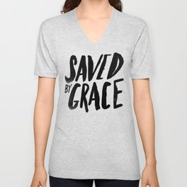 Saved by Grace Unisex V-Neck