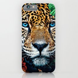 Leopard Hiding iPhone Case