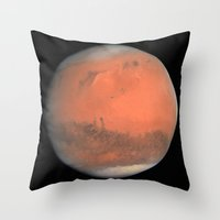 mars Throw Pillows featuring Mars by anipani