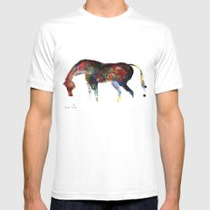 Painted Horse Mens Fitted Tee White MEDIUM
