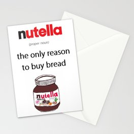 Nutella -only reason Stationery Cards