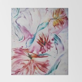 Asters Throw Blanket