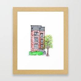 DC Row House No. 3 II Capitol Hill Framed Art Print