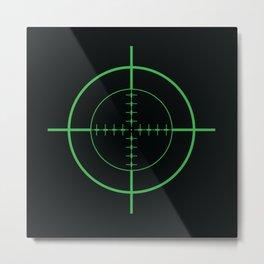 Gun Sight Crosshairs Metal Print