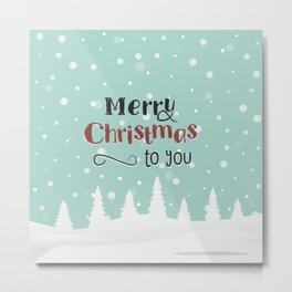 Merry Christmas and Happy New Year Metal Print