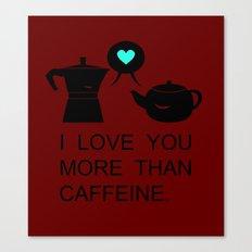 COFFEE&TEA Canvas Print