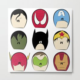 Mini Superhero Collage Metal Print