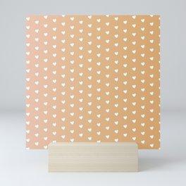 Sandal Heart Shape Pattern Mini Art Print