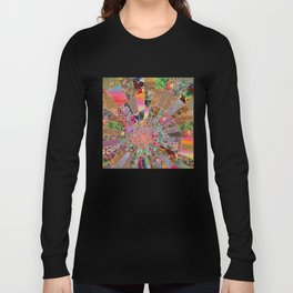 Shitty pink colored Clown Spiderweb Long Sleeve T-shirt